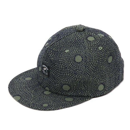 GO HEMP ゴーヘンプ|GOMA ART JACQUARD PANEL CAP (オリーブ)(キャップ)