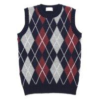 soglia ソリア|LANDNOAH Vest Argyle (ネイビー)(ランドノアベスト アーガイル)