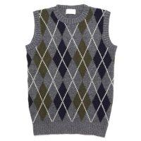 soglia ソリア|LANDNOAH Vest Argyle (グレイ)(ランドノアベスト アーガイル)