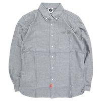 KM4K カモシカ|LONG SLEEVED SHIRT OX (グレイ)(オックスシャツ)