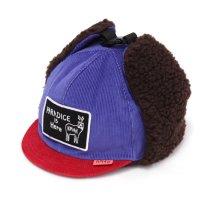 KM4K カモシカ|CAP 6 (ブルーレッド)(耳あて付きキャップ)