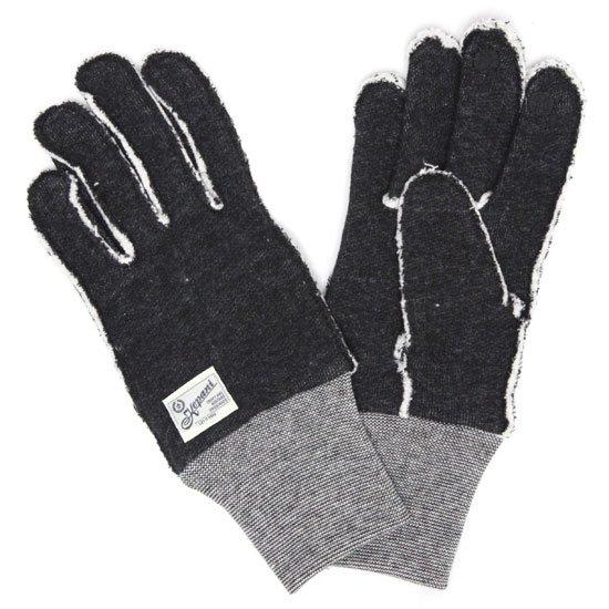 kepani ケパニ Saguaro-2 裏起毛スウェットグローブ (ブラック)(スマホも使える手袋)