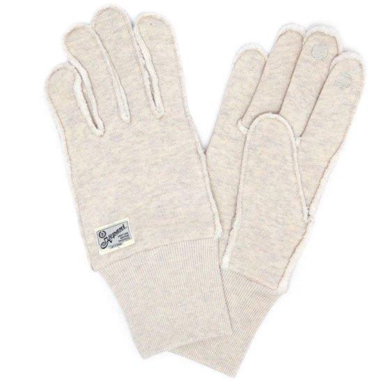 kepani ケパニ Saguaro-2 裏起毛スウェットグローブ (オートミール)(スマホも使える手袋)