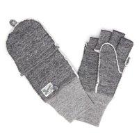 kepani ケパニ|Saguaro-POP 裏起毛スウェットミトン (グレイ)(スマホも使える手袋)