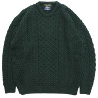 Nasngwam ナスングワム|ARAN KNIT (グリーン)(セーター)