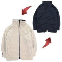 senelier セネリエ|Aerosolbox Reversible Boa Coat (ネイビー)(リバーシブルジャケット)