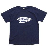 GREEN CLOTHING グリーンクロージング|#5 LEAF TEE (レディース)(ネイビー)(プリントTシャツ)