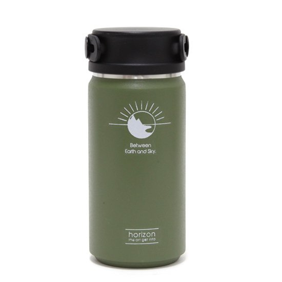 horizon ホライズン |Thermo bottle 350ml (オリーブ)(サーモボトル)(保温保冷)