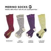 GREEN CLOTHING グリーンクロージング|20-21 MERINO SOCKS (メリノソックス)