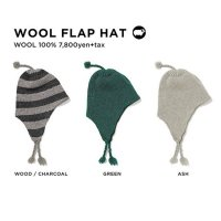 GREEN CLOTHING グリーンクロージング|20-21 WOOL FLAP HAT (イヤーフラップビーニー)