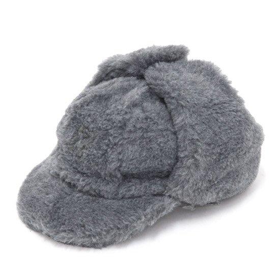 CZECH ARMY チェコ軍 FUR CAP キッズサイズ (グレイ)(ボアキャップ)