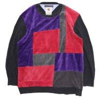 Nasngwam ナスングワム|MONDRIAN KNIT (ブラック:L)(リメイク セーター)