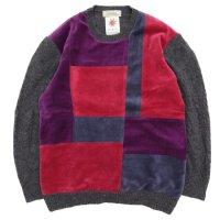Nasngwam ナスングワム|MONDRIAN KNIT (ブラック:M)(リメイク セーター)