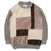 Nasngwam ナスングワム|MONDRIAN KNIT (ベージュ:L)(リメイク セーター)