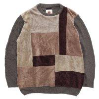 Nasngwam ナスングワム|MONDRIAN KNIT (ベージュ:M)(リメイク セーター)