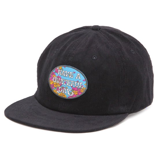 GO WEST ゴーウェスト|GRATEFUL DAY CORDUROY CAP 2 (ブラック)(キャップ)