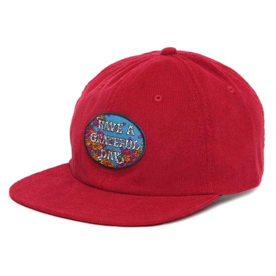 GO WEST ゴーウェスト GRATEFUL DAY CORDUROY CAP 2 (レッド)(キャップ)