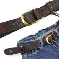 MAGIC THEATER STITCH PEACE 08 BELT (DARK BROWN)