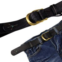 MAGIC THEATER STITCH PEACE 08 BELT (BLACK)