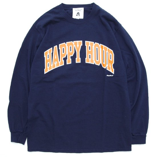 TACOMA FUJI RECORDS タコマフジレコード HAPPY HOUR L/S TEE (ネイビー)(ロンTEE)