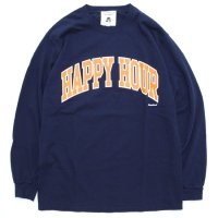TACOMA FUJI RECORDS タコマフジレコード|HAPPY HOUR L/S TEE (ネイビー)(ロンTEE)