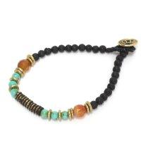 Slow Hands スローハンズ|Lava & Turquoise bracelet (ブレスレット)