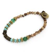 Slow Hands スローハンズ|Jasper & Turquoise bracelet (ブレスレット)