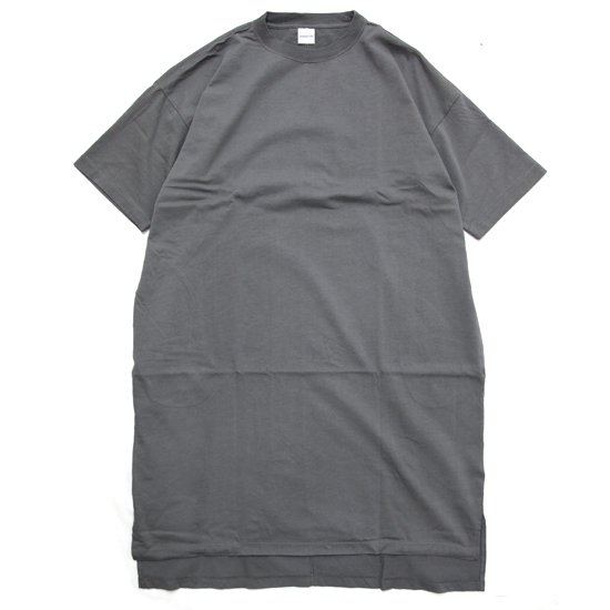 ORDINARY FITS オーディナリーフィッツ|レディース BS ONEPIECE (グレイ)(Tシャツワンピース)