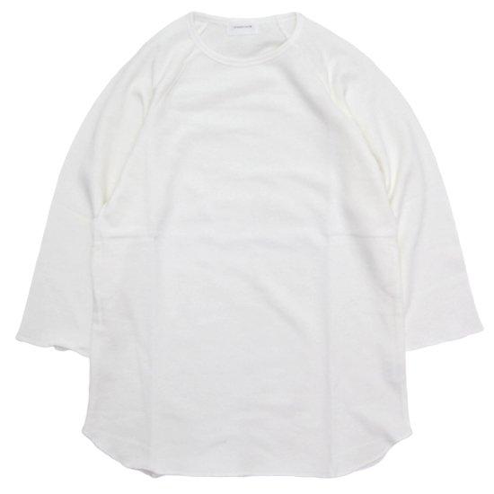 SPINNER BAIT スピナーベイト|ミニ裏毛 ラグラン七分袖 (ホワイト)(七分袖TEE)