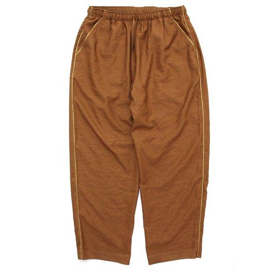 melple メイプル|BED TO PARK EASY PANTS (ブラウン)(イージーパンツ)