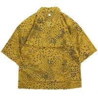 HiHiHi ひひひ|五分袖 カイキンシャツ (カラシドット)(開襟シャツ)