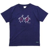 A HOPE HEMP アホープヘンプ|Turtle S/S Tee (オールドネイビー)(ヘンプコットン Tシャツ)