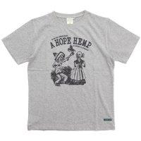 A HOPE HEMP アホープヘンプ|Mucho el Amour S/S Tee (アッシュドグレイ)(ヘンプコットン Tシャツ)