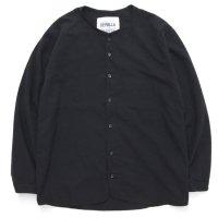 remilla レミーラ|フロトシャツ (ブラック)(ノーカラーシャツ)