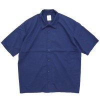 remilla レミーラ|スモークシャツ (ワークブルー)(半袖シャツ)