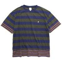 THE PARK SHOP ザ パークショップ|TRICK BORDER TEE (カーキ)(Tシャツ)