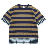 THE PARK SHOP ザ パークショップ|TRICK BORDER TEE (キャメル)(Tシャツ)