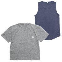 THE PARK SHOP ザ パークショップ|TRAINING BOY TEE (グレイ&ネイビー)(Tシャツ タンクトップセット)