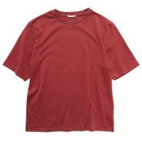 LAMOND ラモンド|SUVIN COTTON 五分 TEE (ボルドー)(五分袖Tシャツ)