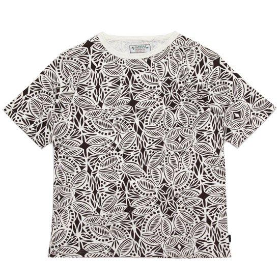 A HOPE HEMP アホープヘンプ Tribal S/S Tee (ブラウン)(ヘンプコットン Tシャツ)