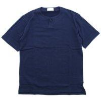 SPINNER BAIT スピナーベイト|ミニ裏毛 1ボタン ヘンリー (ネイビー)(Tシャツ)