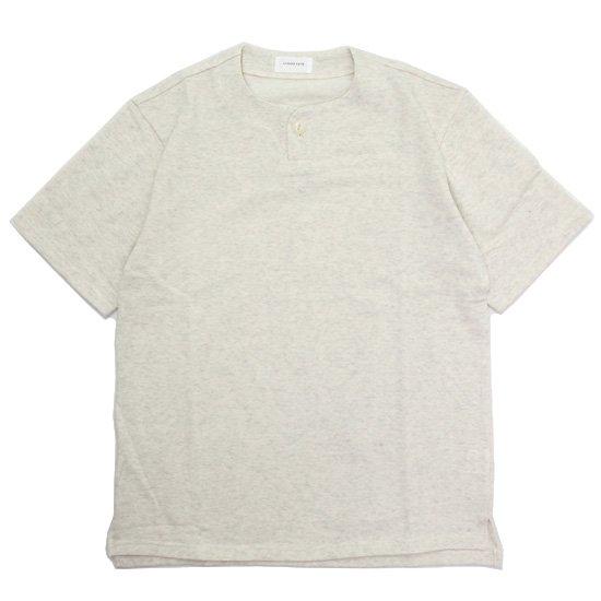 SPINNER BAIT スピナーベイト|ミニ裏毛 1ボタン ヘンリー (オートミール)(Tシャツ)