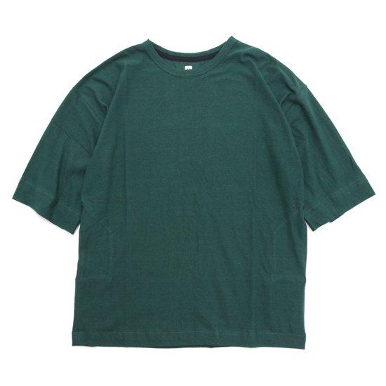 HiHiHi ひひひ 5分袖 ポケット Tee (ミドリ)(Tシャツ)