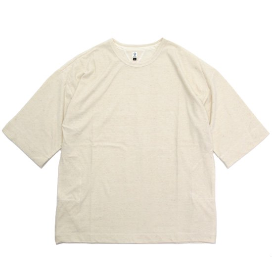 HiHiHi ひひひ 5分袖 ポケット Tee (生成り)(Tシャツ)