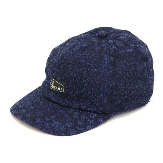 GO HEMP ゴーヘンプ MINIMAL LEAF PANEL CAP (インディゴ)(キャップ)