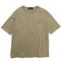 Nasngwam ナスングワム|SCATTER SHOOTING STAR S/S TEE (サンド)(Tシャツ)