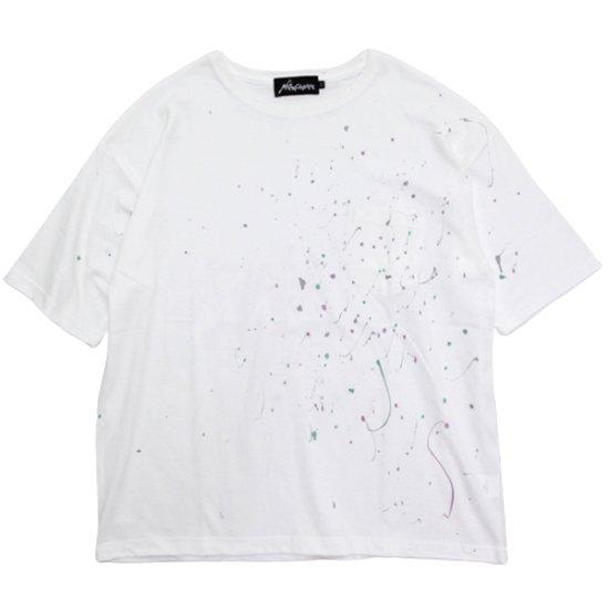 Nasngwam ナスングワム|SCATTER SHOOTING STAR S/S TEE (ホワイト)(Tシャツ)