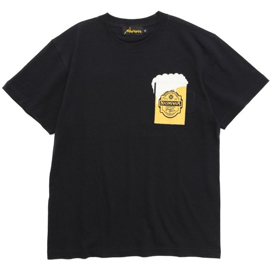 Nasngwam ナスングワム|BEER TEE 2nd (ブラック)(ビールTシャツ)