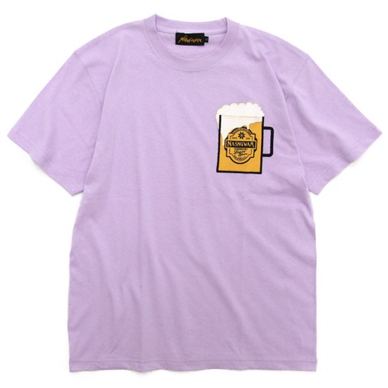 Nasngwam ナスングワム BEER TEE 2nd (ライトパープル)(ビールTシャツ)