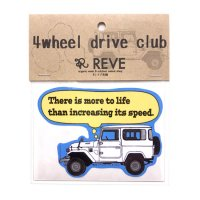 4wheel drive club 4WD倶楽部|ORIGINAL STICKERS (ランクル40)(ステッカー)